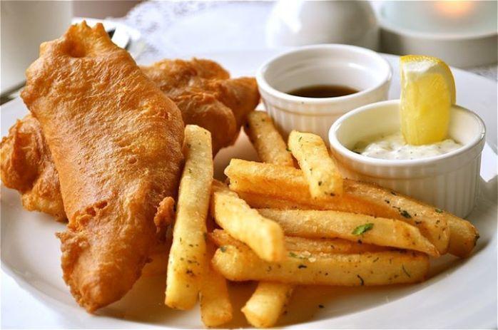 Comida Peixe batata frita