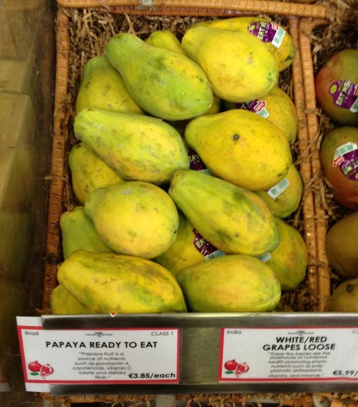 Fruta mamão brasileiro preço caro