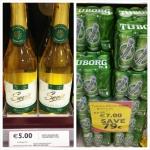 Preço vinho cerveja Tesco Dublin