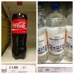 Preço coca-cola agua Tesco Dublin