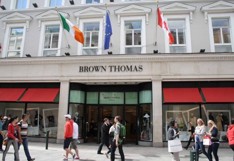 Brown Thomas na Grafton Street em Dublin.