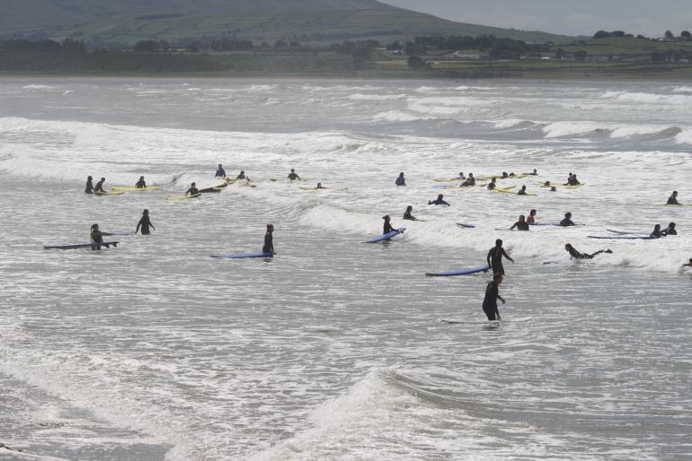 Strandhill Beach praia de surf em Sligo Irlanda